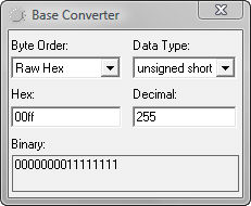 Binary to motorola hex converter